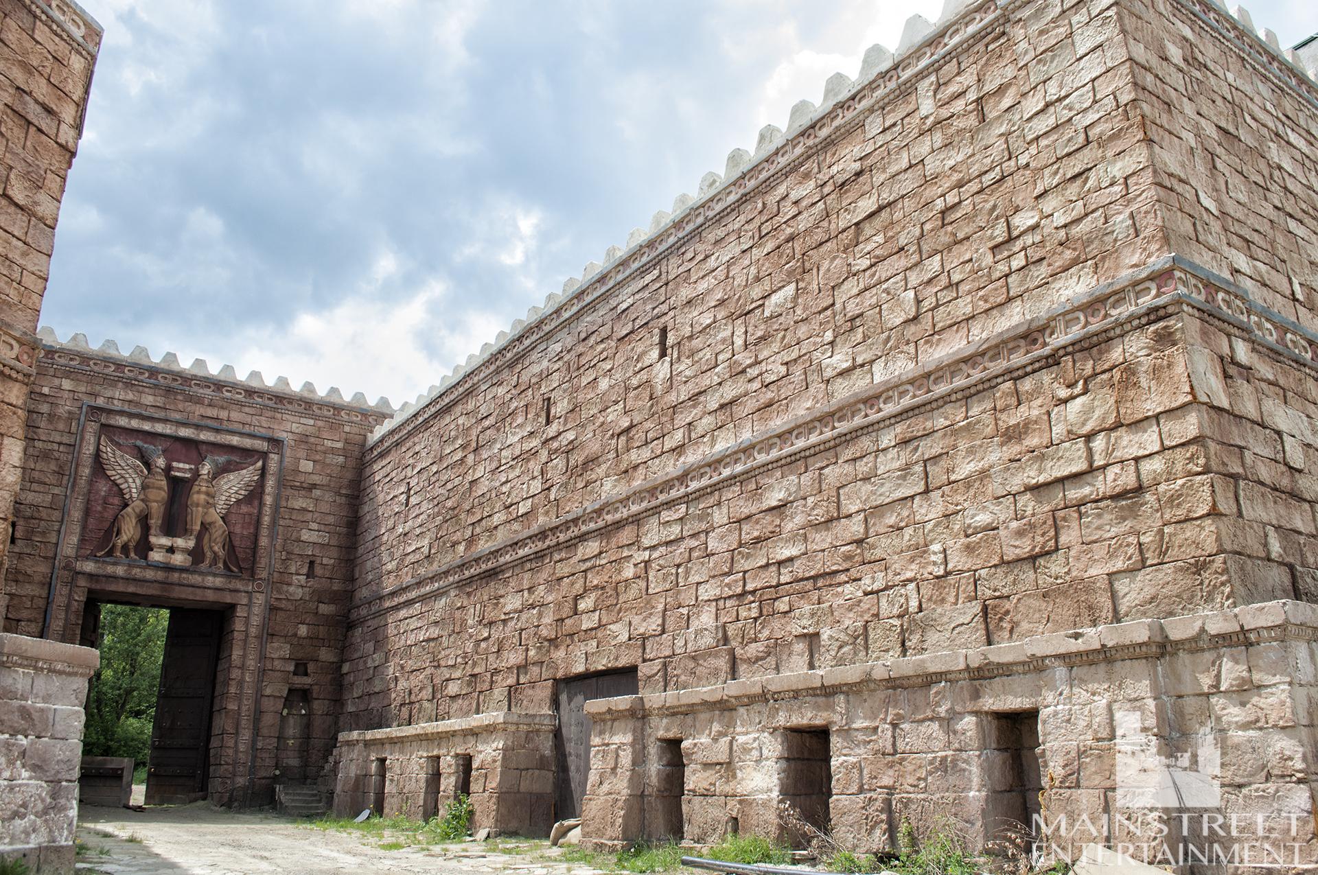 ancient castle gate set