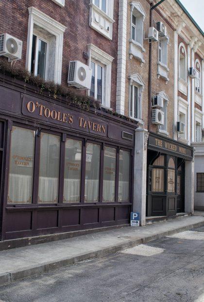 Mayfair London film set