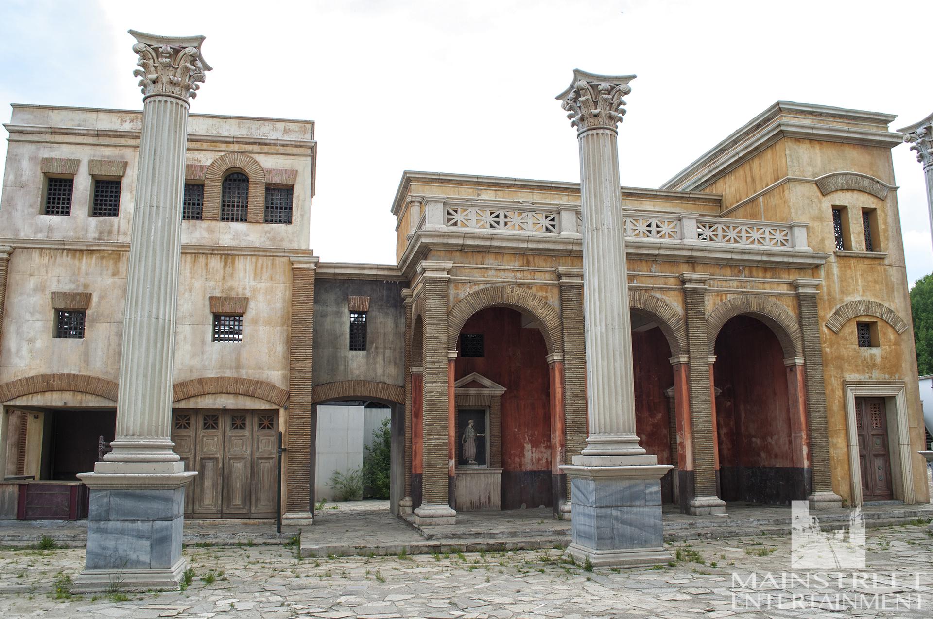Ancient Rome backlot set open market