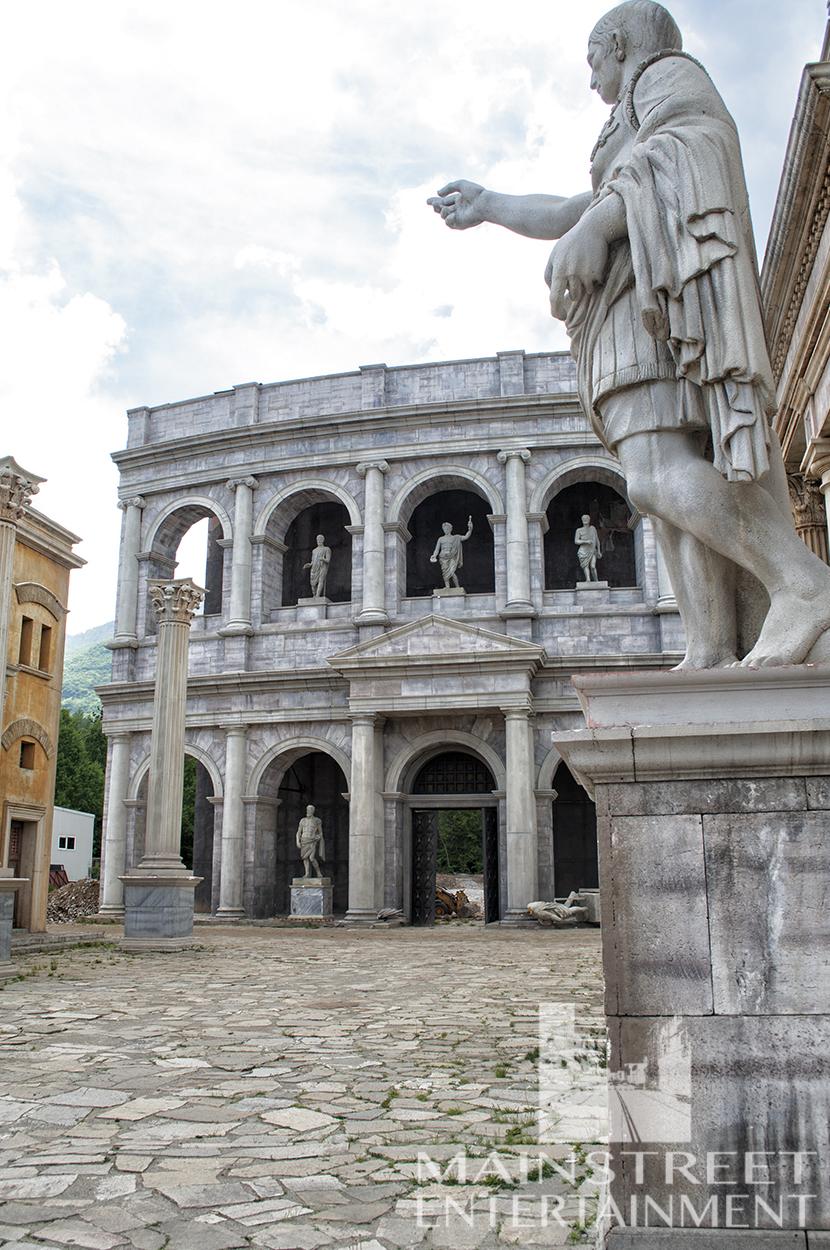 Ancient Rome coliseum monument film set