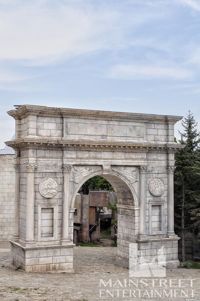Ancient Rome Arch film set