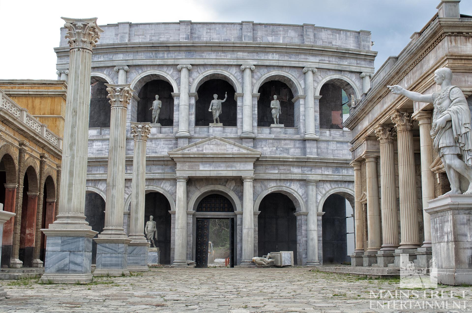 Rome coliseum film set