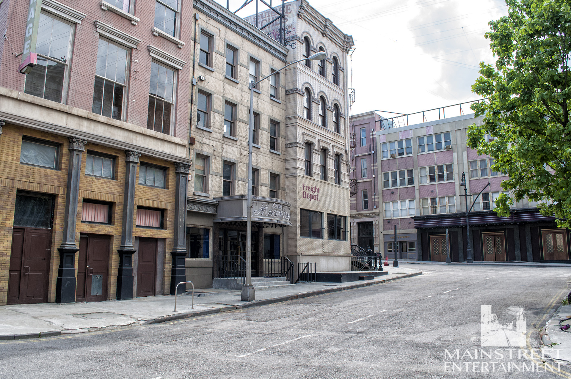 New York streets movie set