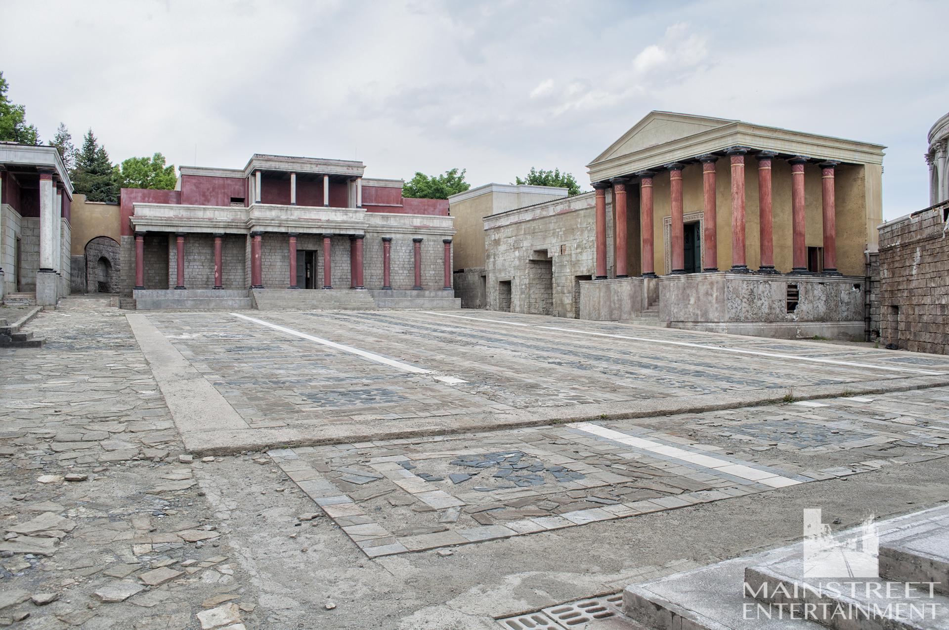 Ancient Rome city square set