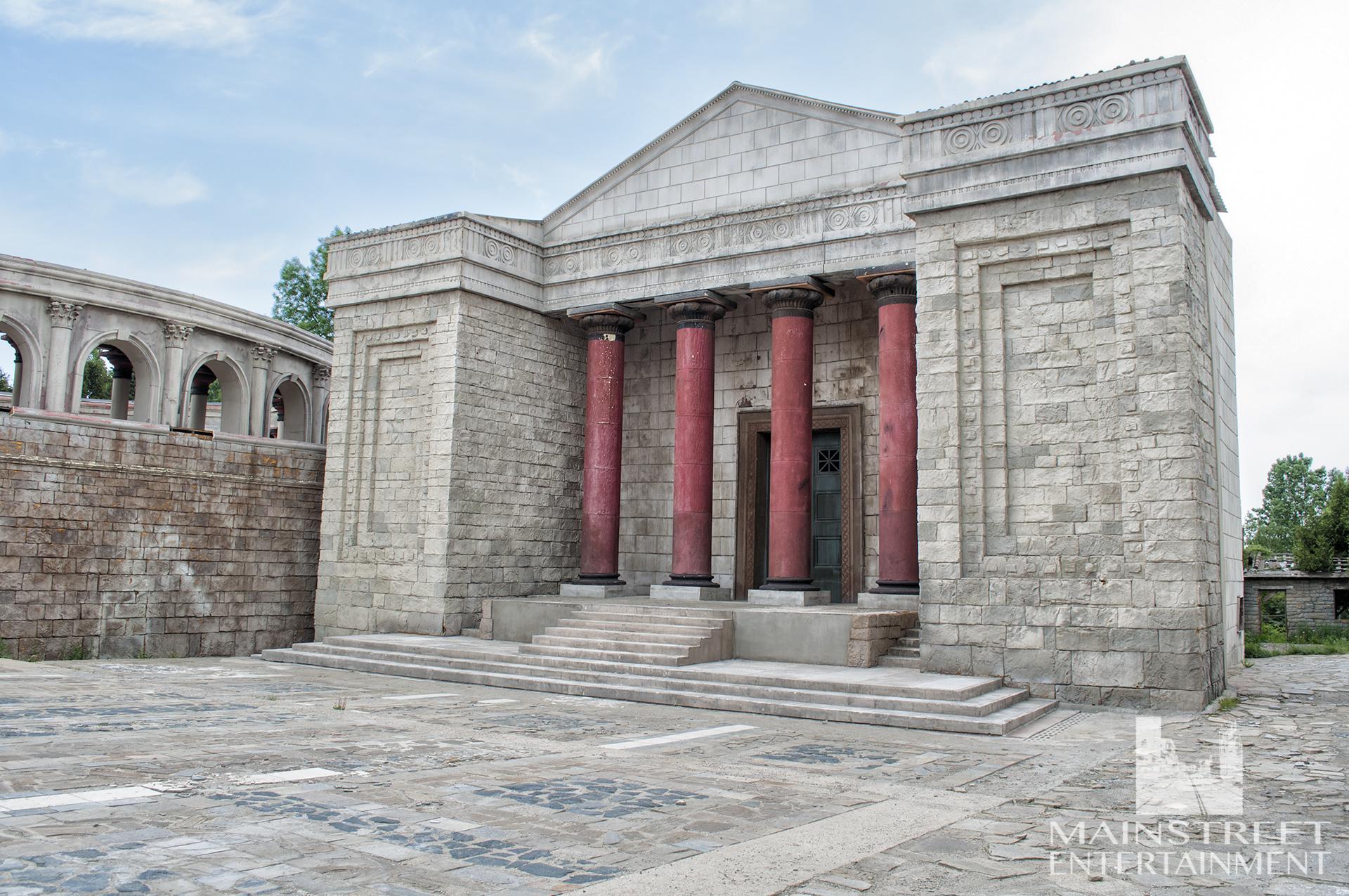 Rome Forum film set