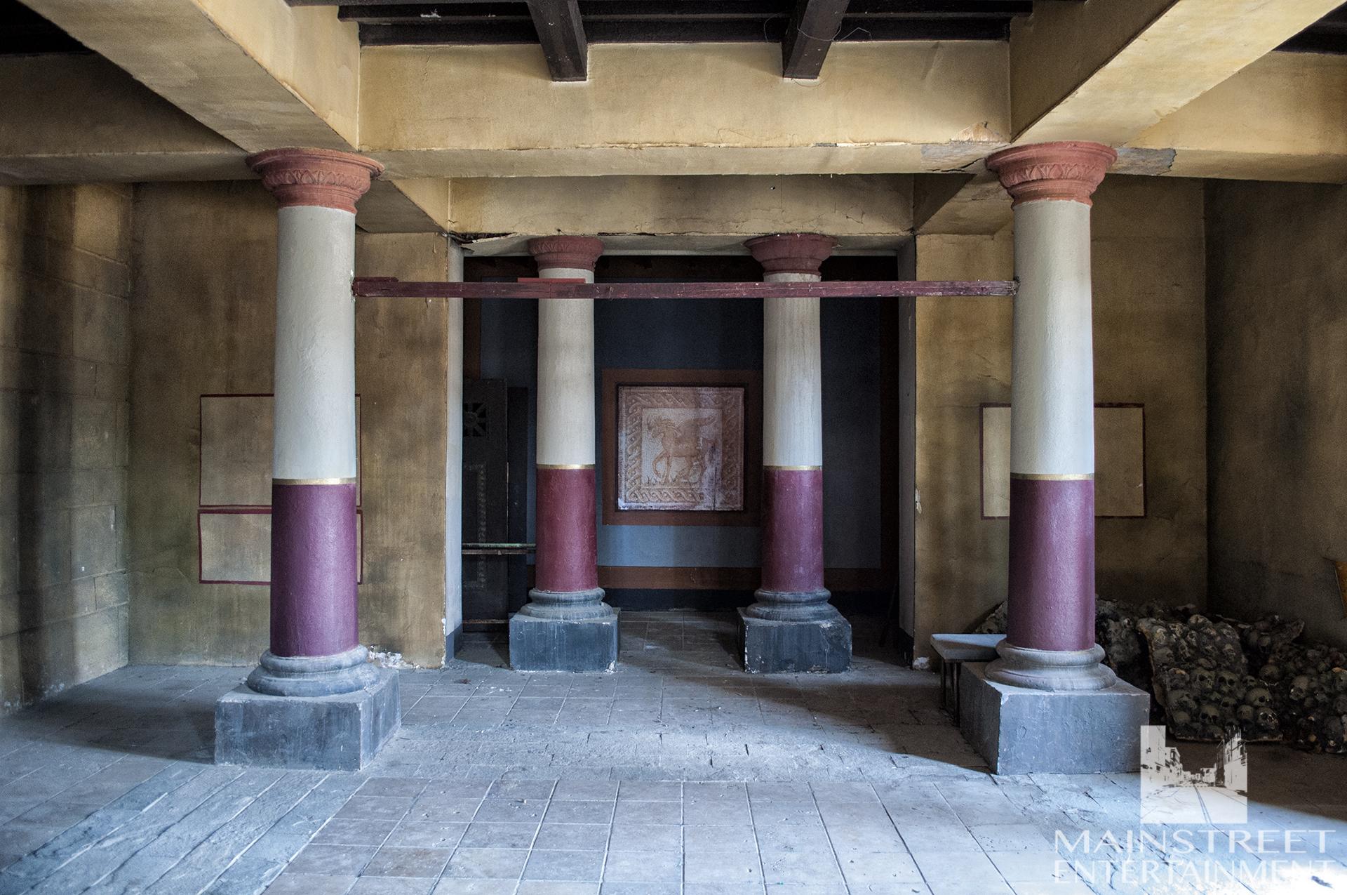 Roman villa film set