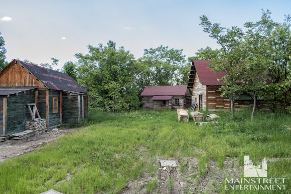 old shacks set
