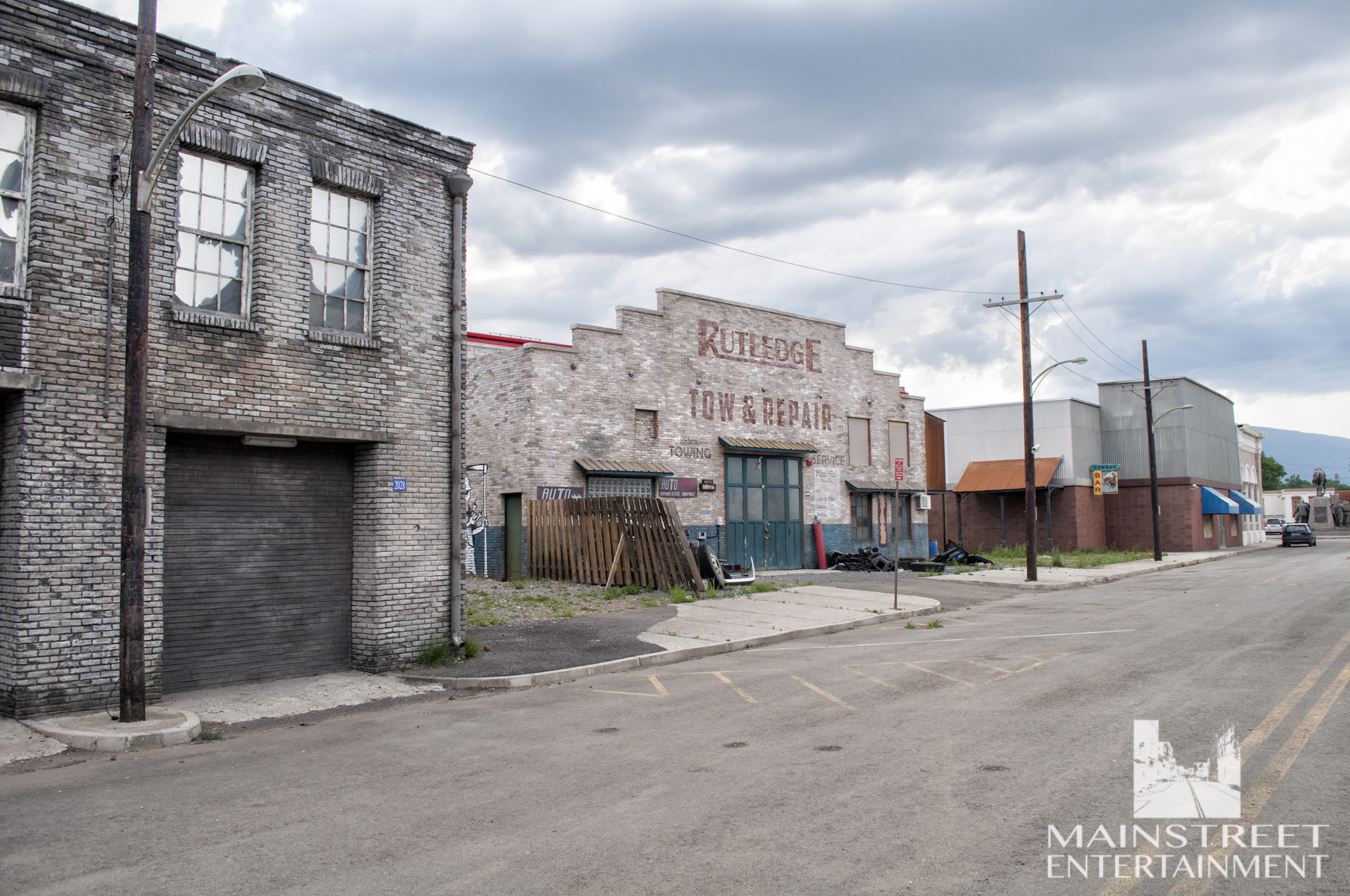 american town movie set
