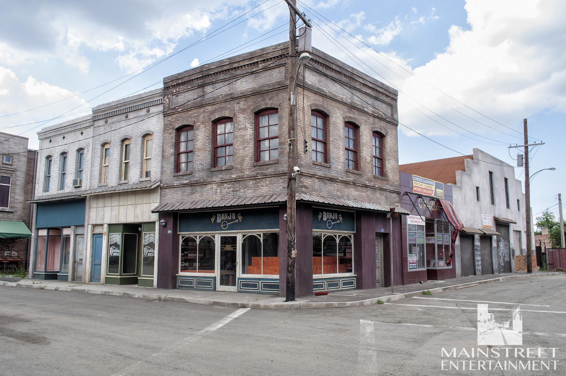 southern american town film set