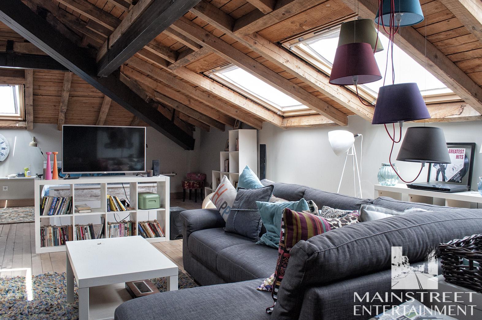 movie set attic apartment