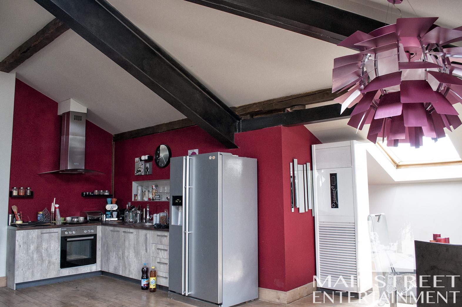 Movie set loft apartment kitchen