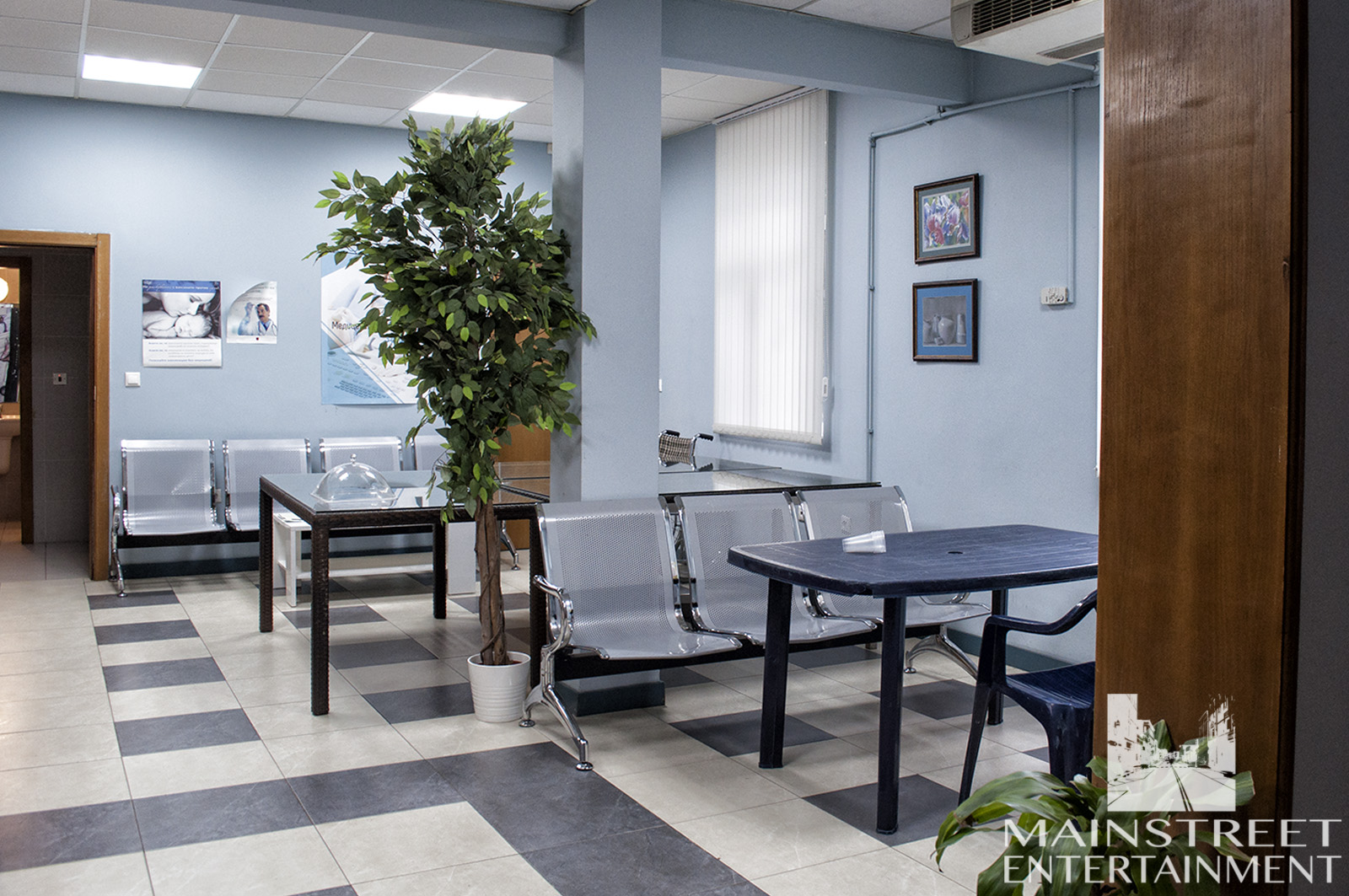 hospital film set waiting room